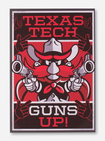Texas Tech Raider Red Guns Up Canvas
