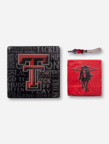 Texas Tech Party Gift Set with Glass Cutting Board- Special Buy