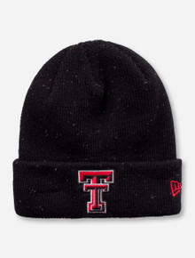 New Era Texas Tech Double T on Heather Black Beanie
