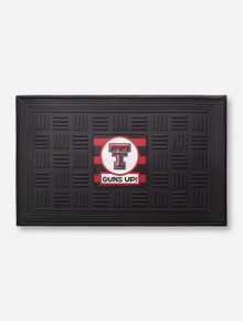 Texas Tech Guns Up Black Door Mat