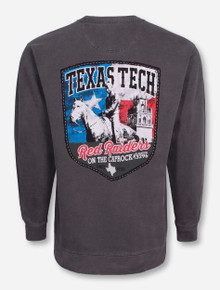 Texas Tech Camp Lone Star Pride Pepper Crew Neck Sweatshirt
