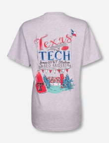 Texas Tech Goal Post Heather Grey T-Shirt
