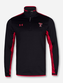"""Under Armour Texas Tech """"Survival"""" Black and Red Quarter Zip Pullover"""