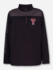 "Under Armour Texas Tech ""Game Time"" YOUTH Black Quarter Zip Pullover"