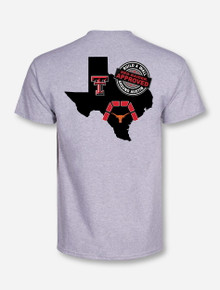 "Texas Tech ""Build a Wall"" on Grey T-Shirt"