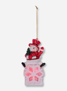 Texas Tech LED Snowman Christmas Ornament