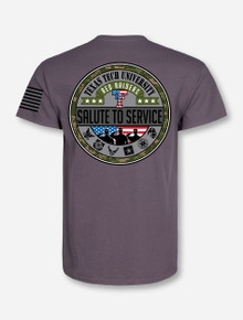Texas Tech Salute To Service Stealth Grey T-Shirt