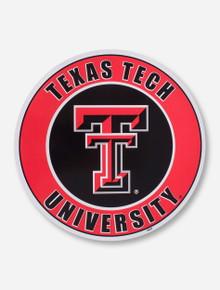 "Texas Tech University  12"" Circle Magnet"