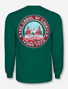 Texas Tech Carol of Lights Celebration Green Long Sleeve