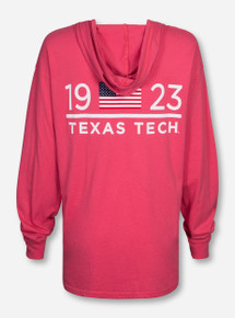 League Texas Tech 1923 Pocket Hooded Long Sleeve
