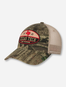 Legacy Texas Tech Oval Patch on Camo Snapback Cap