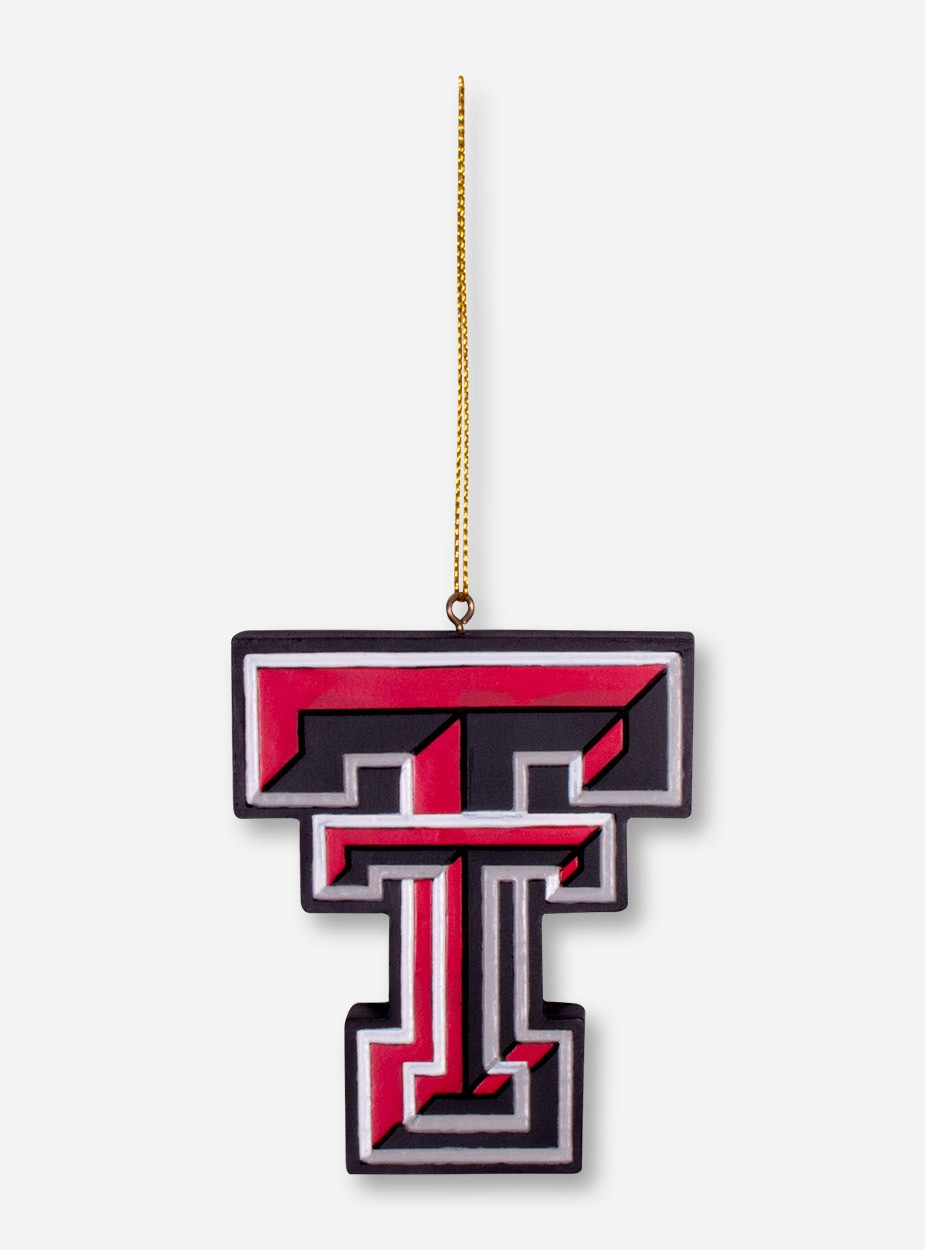 texas tech red raiders 3d double t christmas ornament. Black Bedroom Furniture Sets. Home Design Ideas