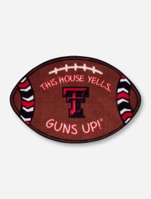 """Texas Tech """"This House Yells Guns Up"""" Door Mat"""
