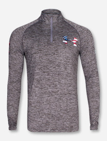 """Under Armour Texas Tech """"Americana"""" Twisted Quarter Zip Pullover"""