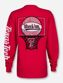 Texas Tech Lady Raiders Off The Glass Red Long Sleeve Shirt
