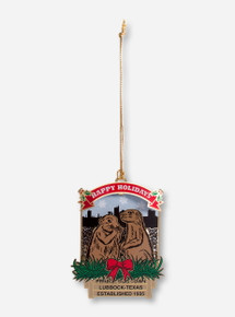 Texas Tech Happy Holidays Prairie Dog Town Collector's Ornament