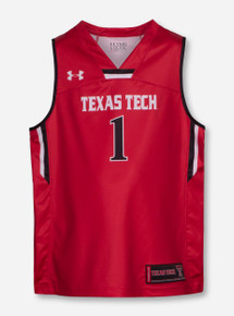 Under Armour Texas Tech YOUTH Basketball Jersey