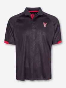 "Chiliwear Texas Tech ""Diamond Grid"" Black Polo"