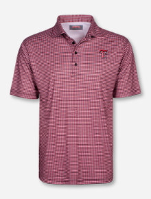 Texas Tech Back Slash Patterned Polo