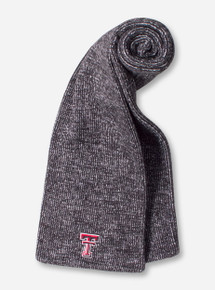 The Game Texas Tech Double T on Black & White Woven Scarf