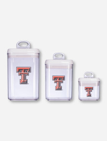 Texas Tech Double T Clear Canister Set