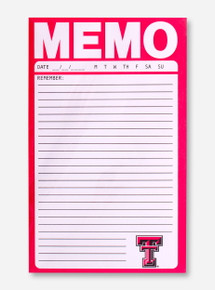 Texas Tech Double T Reminder Memo Notepad Set