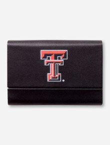 Texas Tech Double T Leatherette Business Card Case