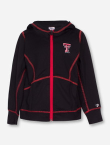 Arena Texas Tech Double T Contrast Stitched Lightweight Hooded TODDLER Jacket