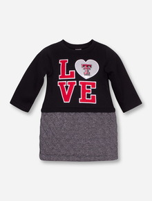 Arena Texas Tech Love Black and Silver TODDLER Dress