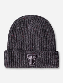 47 Brand Texas Tech Double T Charcoal Flecked Knit Beanie