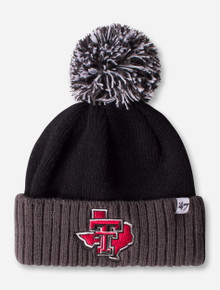 "47 Brand Texas Tech Lone Star Pride ""Dunston"" YOUTH Black Pom Beanie"