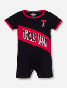 Arena Texas Tech Breathtaking INFANT Black and Red Romper