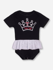 Arena Texas Tech Princess INFANT Black Tutu Onesie