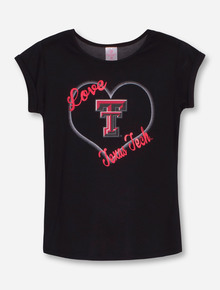 Arena Texas Tech Love GIRL'S Black Split Back Shirt