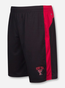 Arena Texas Tech In the Vault Red and Black Gym Shorts