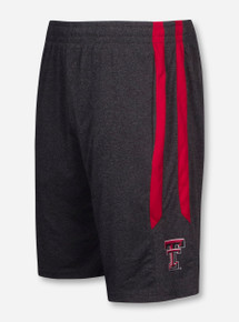 Arena Texas Tech Court Side Charcoal Gym Shorts