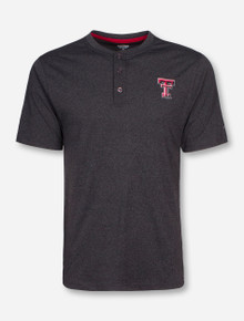 Arena Texas Tech Double T on Grey Henley T-Shirt