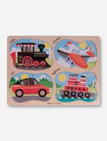 Melissa & Doug Texas Tech Wooden Transportation Peg Puzzle