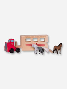 Melissa & Doug Texas Tech Fearless Champion Horse Trailer
