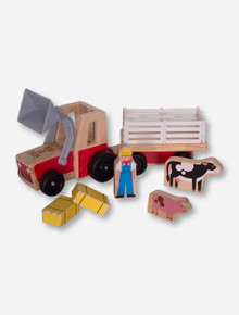 Melissa & Doug Texas Tech Farm Tractor Play Set
