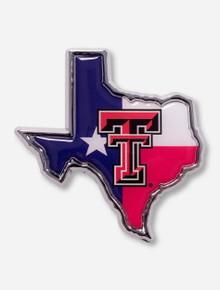 Texas Tech Texas Flag and Double T Emblem