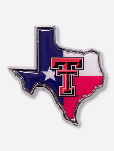 Texas Tech Red Raiders Texas Flag And Double T Emblem