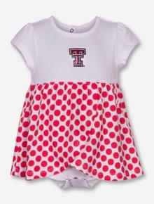 "Garb Texas Tech ""Megan"" Polka Dot Onesie Dress"