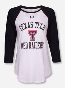 Under Armour Texas Tech Red Raiders Black & White Raglan