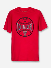 Under Armour Texas Tech Red Raiders Baseball Silhouette YOUTH Red T-Shirt