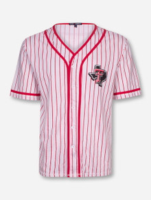 Texas Tech Lone Star Pride Red Pinstriped Baseball Jersey Shirt