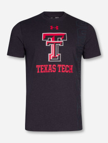 Under Armour Texas Tech Red Raiders Charged Cotton Heather Charcoal T-Shirt