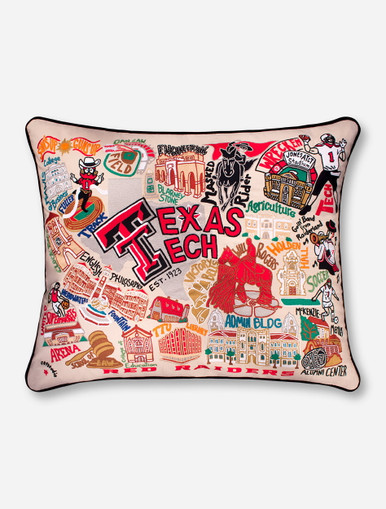 Catstudio Hand Stitched Extra Large Texas Tech Red Raiders Inspiration Extra Large Decorative Pillows