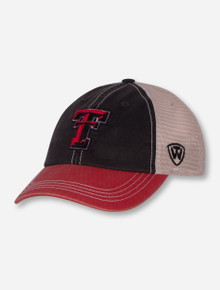 """Top of the World Texas Tech """"Offroad"""" YOUTH Tri-Color Snapback Cap"""