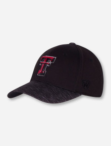 "Top of the World Texas Tech ""Lightspeed"" Black Stretch Fit Cap"